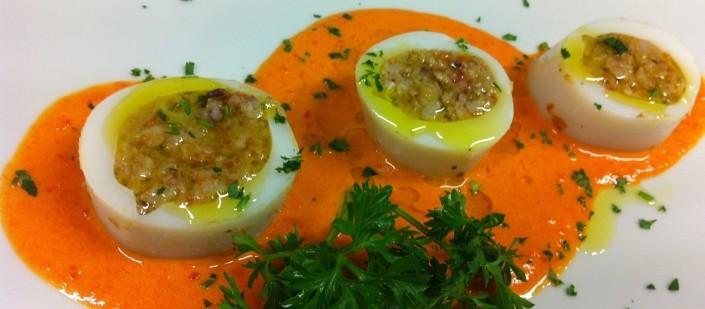 Ristorante Maestrale Roma pesce - Calamari ripieni in salsa di peperoni