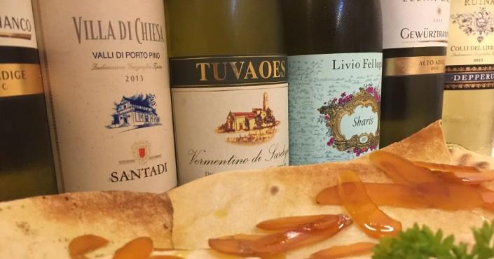 Ristorante Maestrale Roma pesce - selezione di vini bianchi