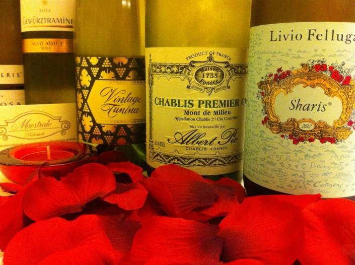 Ristorante Maestrale Roma pesce - Alcuni vini bianchi
