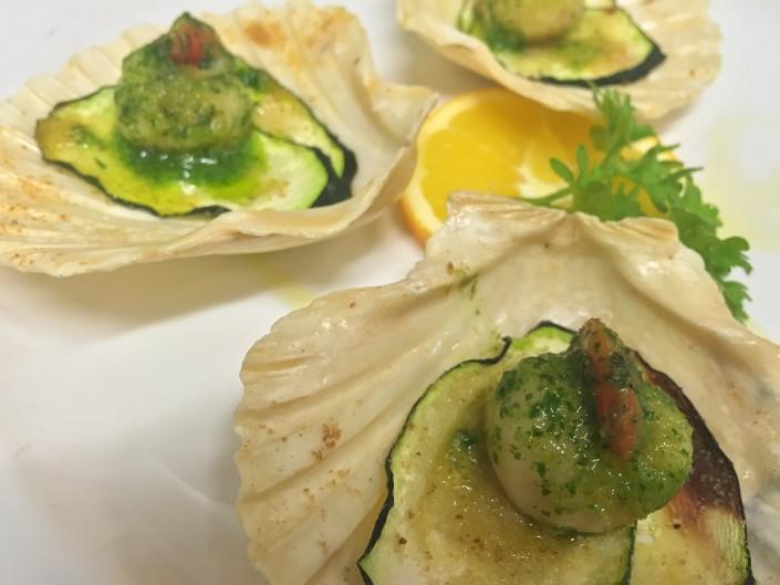 istorante Maestrale Roma pesce - Capesante al forno