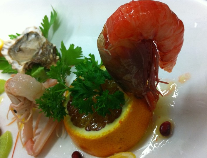 Ristorante Maestrale Roma pesce - Gamberi, scampi e ostriche.