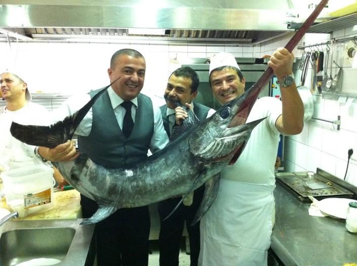 Ristorante Maestrale Roma pesce - Pesce spada appena arrivato