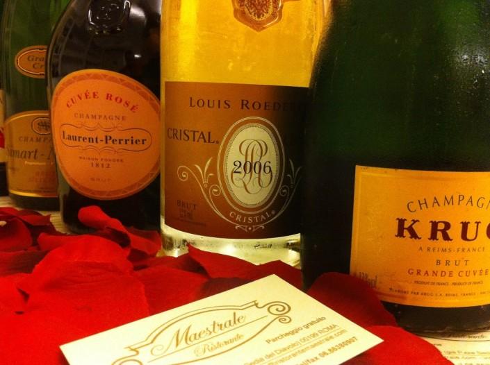 Ristorante Maestrale Roma pesce - Qualche champagne
