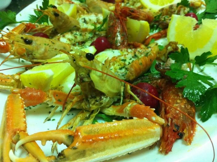 Ristorante Maestrale pesce Roma -Scamponi e gamberoni ai ferri