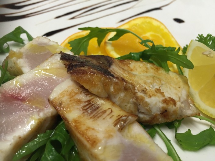 Ristorante Maestrale Roma pesce - Tagliata di ombrina.